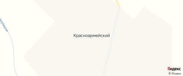 Улица Ерофеева на карте Красноармейского поселка Чукотского автономного округа с номерами домов