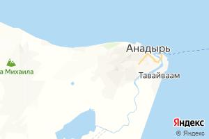 Карта г. Анадырь Чукотский автономный округ