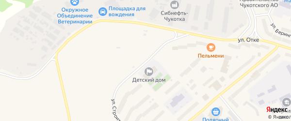 Улица Строителей на карте Анадыря с номерами домов