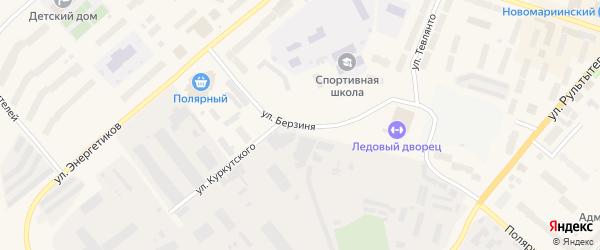 Улица Берзиня на карте Анадыря с номерами домов