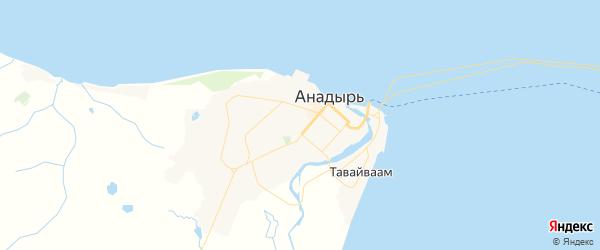Карта Анадыря с районами, улицами и номерами домов