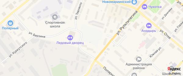 Студенческая улица на карте Анадыря с номерами домов