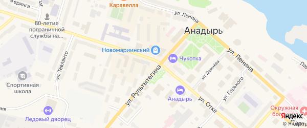 Рабочий переулок на карте Анадыря с номерами домов