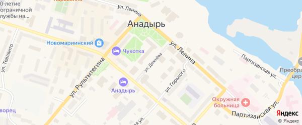Улица Дежнева на карте Анадыря с номерами домов