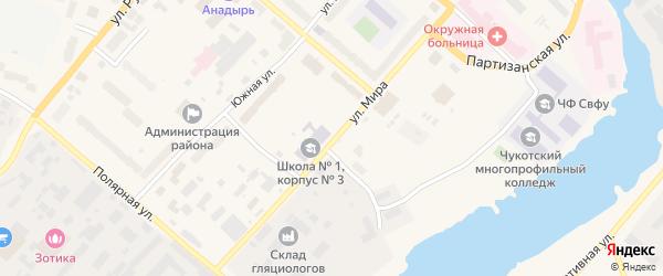 Улица Мира на карте Анадыря с номерами домов