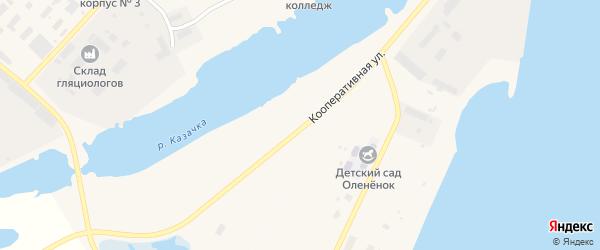 Кооперативная улица на карте Анадыря с номерами домов