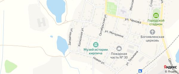 Морская улица на карте Мамоново с номерами домов
