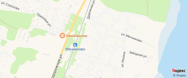 Начальная улица на карте территории ТСН Восхода с номерами домов