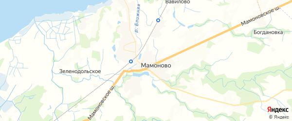 Карта Мамоново с районами, улицами и номерами домов