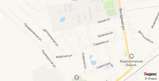 Загородная улица в Приморске с номерами домов на карте. Спутник и схема онлайн