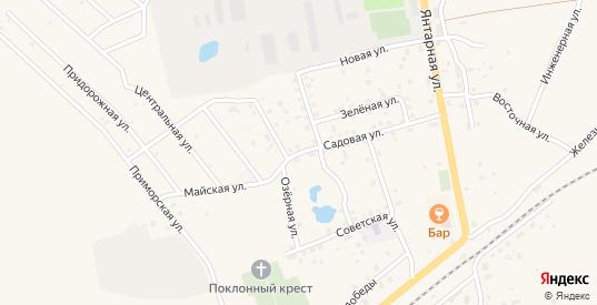 Садовая улица в Приморске с номерами домов на карте. Спутник и схема онлайн