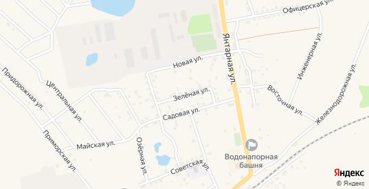 Зеленая улица в Приморске с номерами домов на карте. Спутник и схема онлайн