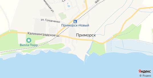 СНТ Усолка на карте Приморска с номерами домов