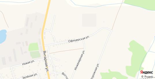 Офицерская улица в Приморске с номерами домов на карте. Спутник и схема онлайн
