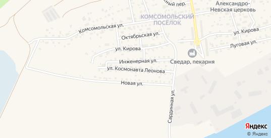 Улица Космонавта Леонова в Светлом с номерами домов на карте. Спутник и схема онлайн