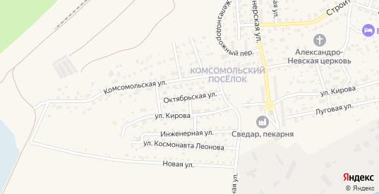 Октябрьская улица в Светлом с номерами домов на карте. Спутник и схема онлайн