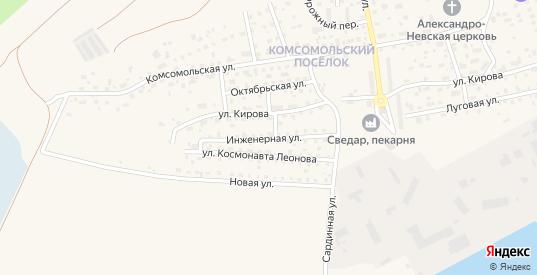 Инженерная улица в Светлом с номерами домов на карте. Спутник и схема онлайн
