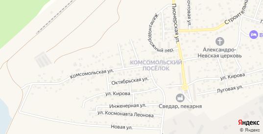 Комсомольская улица в Светлом с номерами домов на карте. Спутник и схема онлайн