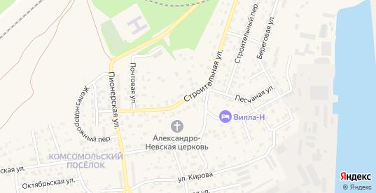 Строительная улица в Светлом с номерами домов на карте. Спутник и схема онлайн