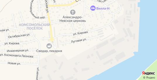 Луговая улица в Светлом с номерами домов на карте. Спутник и схема онлайн