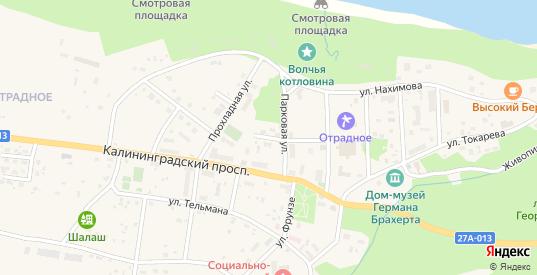 Гвардейский переулок в Светлогорске с номерами домов на карте. Спутник и схема онлайн