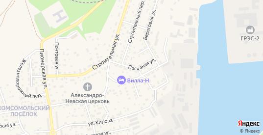 Песчаная улица в Светлом с номерами домов на карте. Спутник и схема онлайн