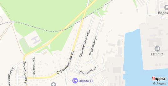 Строительный переулок в Светлом с номерами домов на карте. Спутник и схема онлайн