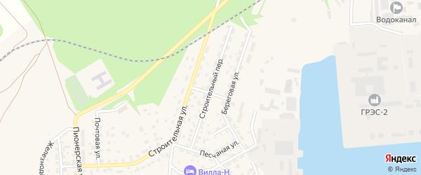 Строительный переулок на карте Светлого с номерами домов