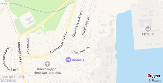 Песчаный переулок в Светлом с номерами домов на карте. Спутник и схема онлайн