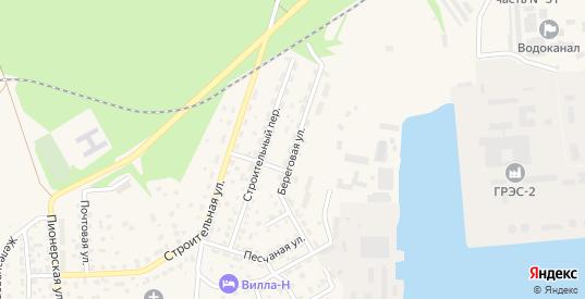Береговая улица в Светлом с номерами домов на карте. Спутник и схема онлайн