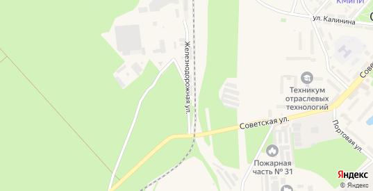 Железнодорожная улица в Светлом с номерами домов на карте. Спутник и схема онлайн