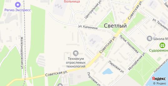 Коммунистическая улица в Светлом с номерами домов на карте. Спутник и схема онлайн