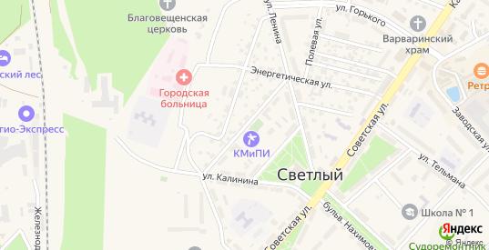 Центральная улица в Светлом с номерами домов на карте. Спутник и схема онлайн