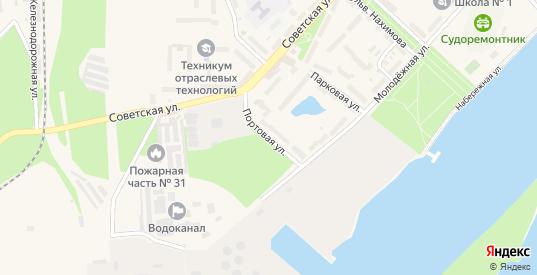 Портовая улица в Светлом с номерами домов на карте. Спутник и схема онлайн