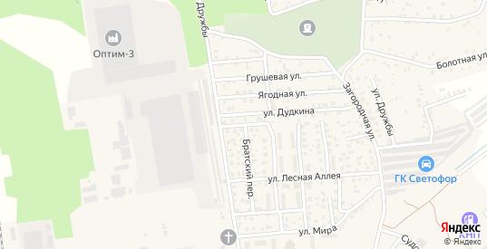 Дачная улица в Светлом с номерами домов на карте. Спутник и схема онлайн