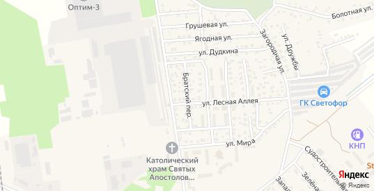 Братский переулок в Светлом с номерами домов на карте. Спутник и схема онлайн