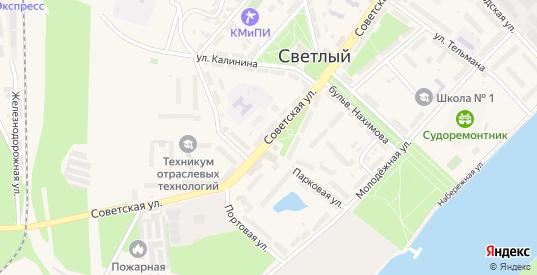 Советская улица в Светлом с номерами домов на карте. Спутник и схема онлайн