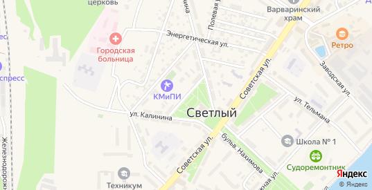 Улица Яльцева в Светлом с номерами домов на карте. Спутник и схема онлайн