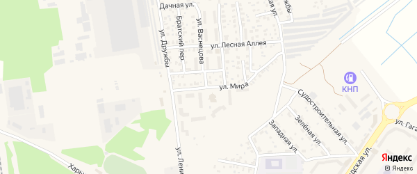 Улица Мира на карте Светлого с номерами домов