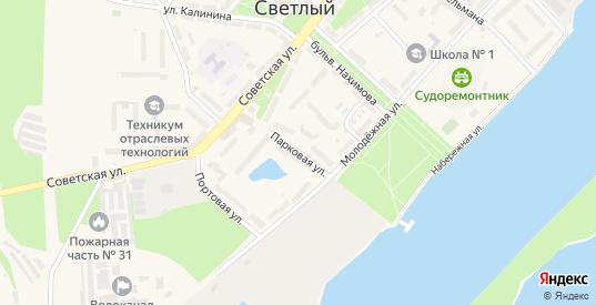 Парковая улица в Светлом с номерами домов на карте. Спутник и схема онлайн