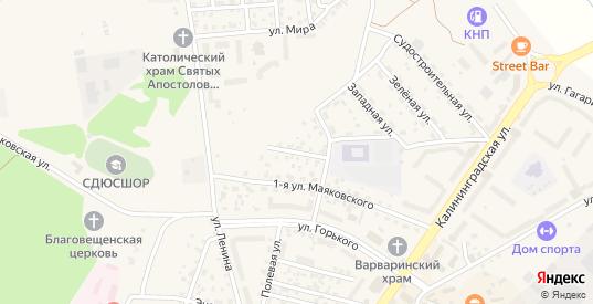 Маяковского 2-я улица в Светлом с номерами домов на карте. Спутник и схема онлайн