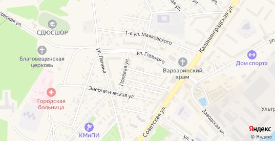Лесная улица в Светлом с номерами домов на карте. Спутник и схема онлайн