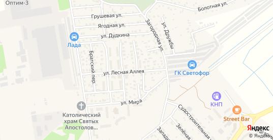 Озерный переулок в Светлом с номерами домов на карте. Спутник и схема онлайн