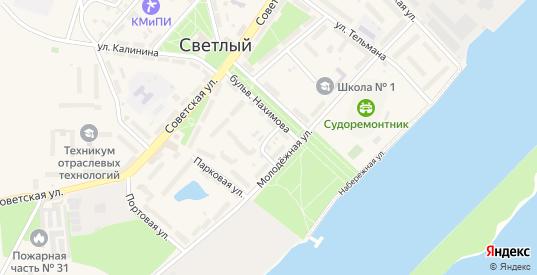 Улица Суворова в Светлом с номерами домов на карте. Спутник и схема онлайн