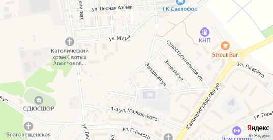 Балтийская улица в Светлом с номерами домов на карте. Спутник и схема онлайн