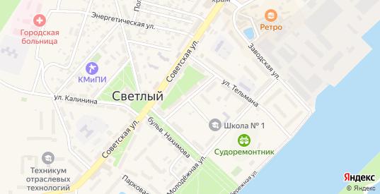 Красноармейская улица в Светлом с номерами домов на карте. Спутник и схема онлайн