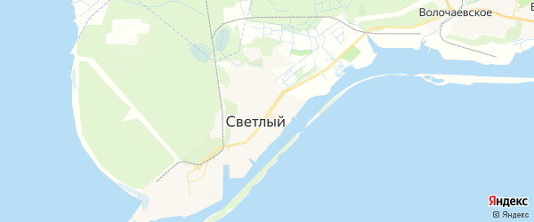 Карта Светлого с районами, улицами и номерами домов