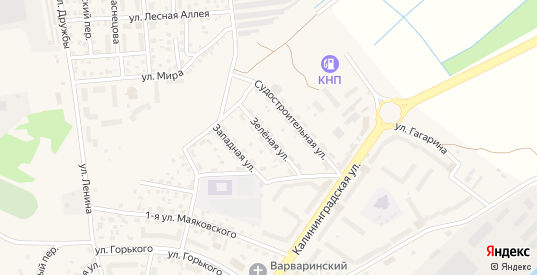 Зеленая улица в Светлом с номерами домов на карте. Спутник и схема онлайн