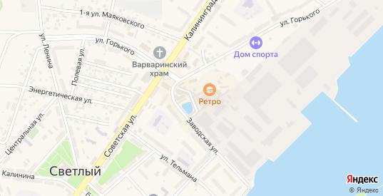 Улица Л.Чайкиной в Светлом с номерами домов на карте. Спутник и схема онлайн