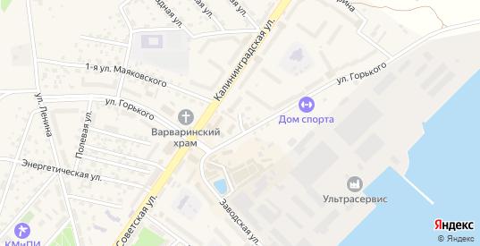 Садовая улица в Светлом с номерами домов на карте. Спутник и схема онлайн